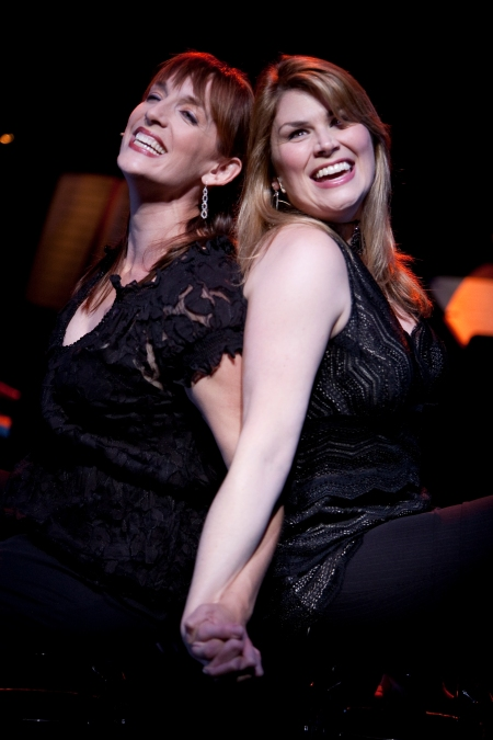 """Julia Murney and Heidi Blickenstaff (left to right) sing """"The Apple Doesn't Fall Very Far,"""" from Kander and Ebb's """"The Rink,"""" in Signature Theatre's production of """"First You Dream."""""""